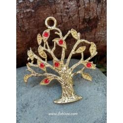 1 τεμ, 61 χλστ, Χαλκός, Δέντρο της Ζωής, Κρεμαστό, Στρογγυλό, Χρυσό Αντίκας