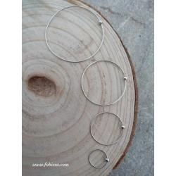 2 τεμ, 70-50-35 & 20 χλστ, Κρίκος από Αλουμίνιο, Ασημί