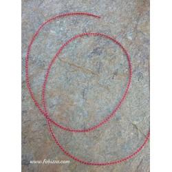 1 μέτρo, 0.8χλστ, Κερωμένο Δίχρωμο Κορδόνi, SnakeCord,  Άσπρο - Κόκκινο