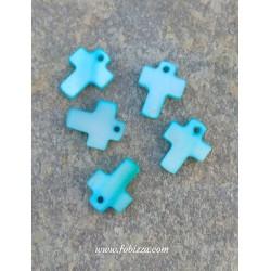 10 τεμ, 13 χλστ, Κέλυφος Κοραλιού,  Σταυρός, Γαλάζιο