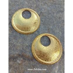 2 τεμ, 29 χλστ, Μεταλλικό Φιλιγκράν, Στρογγυλό, Χρυσό