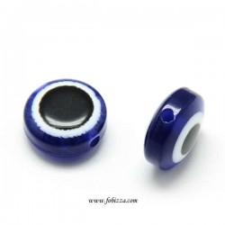 10 τεμ, 9 χλστ διάμετρος, Τρύπα: 1 χλστ, Ακρυλικό Μάτι, Μπλε