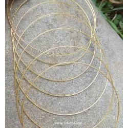 10 κύκλους, 60x0.8 χλστ, Σύρμα από Ατσάλι, Memory Wire για Βραχιόλια-Μαρτυρικά, Χρυσό
