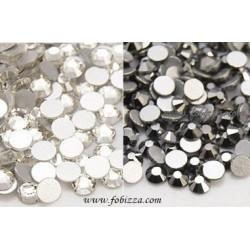 50 τεμ, 6,5 χλστ, Κρύσταλλο σε σχήμα διαμαντιού, Χωρίς Κόλλα, Διαφανές