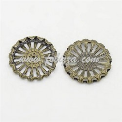 Κράμα, Σύνδεσμοι για σκουλαρίκια, Ανοξειδωτο Ασήμι Αντίκας, 46.5x24x6χιλ, Τρύπα: 2 χιλ.