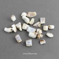 100 τεμ, 10-20 χλστ, Ακανόνιστες Χάντρες από Φυσικά Κοχύλια, Ιβουαρ
