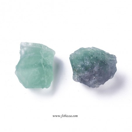 2 τεμ, 30~40 χλστ, Φυσικός Φθορίτης, Ημιπολύτιμος Λίθος, Χωρίς Τρύπα