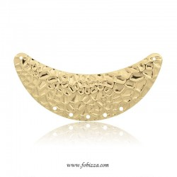 1 τεμ, 68 χλστ, Ορείχαλκος, Σχήμα Σελήνης Σφυρηλατημένο με Τρύπες, Χρυσό