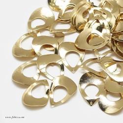2 τεμ, 23 χλστ, Χαλκός Επιχρυσωμένος με 18Κ Χρυσό, Κρεμαστό, Δάκρυ, Χρυσό
