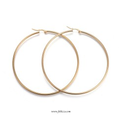 Brass Hoop Earrings Components Kidney Ear Wires, Gold Color, 33x14mm
