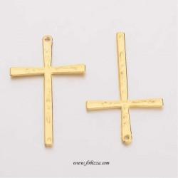 2 τεμ, 61 χλστλ, Ορείχαλκος, Σταυρός, Κρεμαστό, Χρυσό