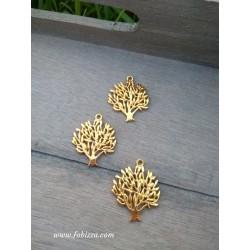 1 τεμ, 24 χλστ, Μεταλλικό, Δέντρο της Ζωής, Κρεμαστό, Στρογγυλό, σε Χρυσό και Ασημί