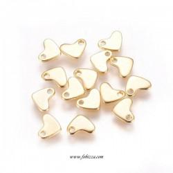 10 τεμ, 7x6 χλστ, 304 Ανοξείδωτο Ατσάλι, Καρδιά, Χρυσό