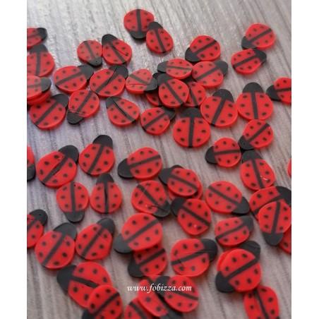 100 τεμ, 5 χλστ, Πασχαλίτσες απο Πολυμερικό Πηλό, Καμπουσόν, Κόκκινο