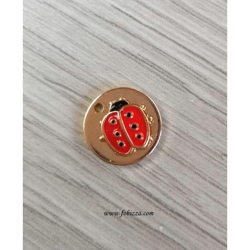 2τεμ, 12 χλστ, Επιχρυσωμένος Χαλκός με 18Κ Χρυσό, Κρεμαστό, Στρογγυλό, Ματάκι ή Πασχαλίτσα
