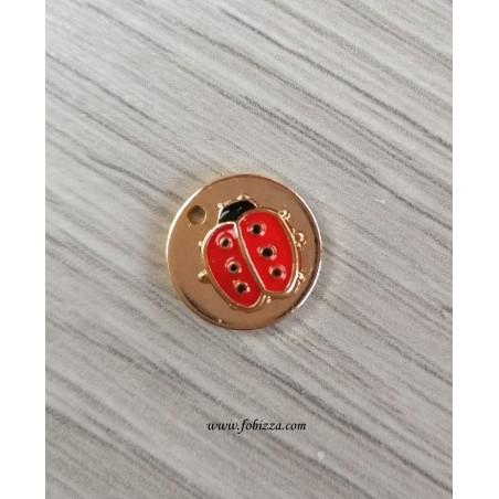 2 τεμ, 12 χλστ, 304 Ανοξείδωτο Ατσάλι, Κρεμαστό, Στρογγυλό με Πασχαλίτσα σε Ασημί και Χρυσό