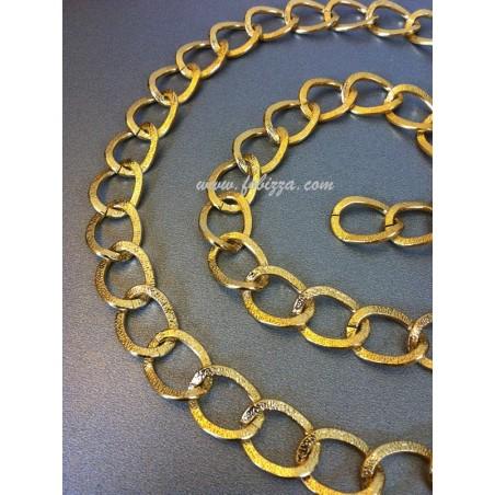 1μ, 15x20 χλστ, Αλουμινίο, Αλυσίδα Στριφτή με Χαλιναγώγηση, Χρώμα Χρυσό