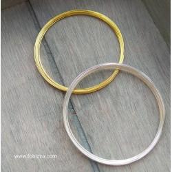 10 κύκλους, 60x0.8 χλστ, Σύρμα από Ατσάλι, Memory Wire για Βραχιόλια-Μαρτυρικά, Χρυσό και Ασημί