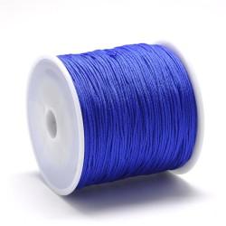 100 μέτρ. ή 1 μετρ, 0.8 χλστ πάχος, Μακραμέ Κερωμένο Σχοινί σε Μπλε