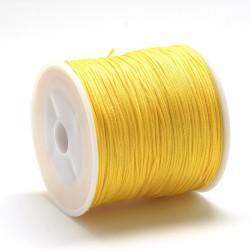 100 μέτρ. ή 1 μετρ, 0.8 χλστ πάχος, Μακραμέ Κερωμένο Σχοινί σε Κίτρινο