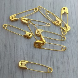 50 τεμ, 22 χλστ, Μεταλλικές Καρφίτσες, Χρυσό