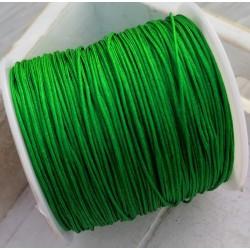 100 μέτρ. ή 1 μετρ, 0.8 χλστ πάχος, Μακραμέ Κερωμένο Σχοινί σε Ανοιχτό Πράσινο