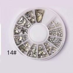 1 τεμ, 31 χλστ, Μεταλλικό Στρογγυλό με Φύλλα, Κρεμαστό, Ασημί