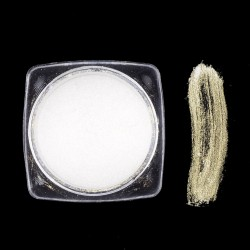 1 Box, 30 χλστ, Μεταλλικό Mirror Effect Χρυσό Σαμπανί, Σκόνη Κέλυφους για DIY Τεχνητά Νύχια