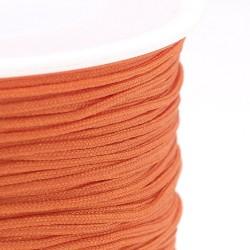 100 μέτρ. ή 1 μετρ, 0.8 χλστ πάχος, Μακραμέ Κερωμένο Σχοινί σε Πορτοκαλί