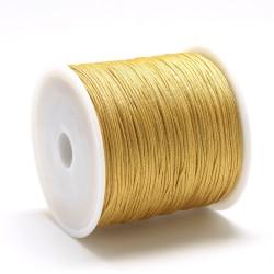 100 μέτρ. ή 1 μετρ, 0.8 χλστ πάχος, Μακραμέ Κερωμένο Σχοινί σε Χρυσό