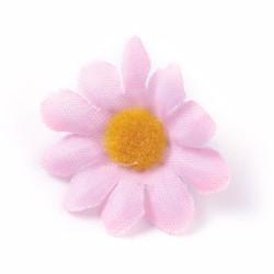 5 τεμ, 40 χλστ, Κεφαλή Τεχνητού Λουλουδιού, Μετάξωτο Πανί, για Διακόσμηση Πάρτι-Στεφάνι Γάμου, Ροζ Μαργαρίτα