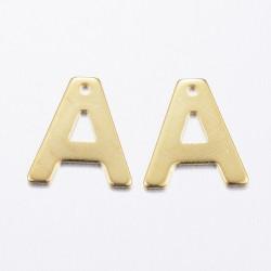 """2 τεμ, 11x10 χλστ, 304 Ανοξείδωτο Ατσάλι, Γράμμα """"A"""", Κρεμαστό, Χρυσό"""