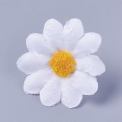 5 τεμ, 40 χλστ, Κεφαλή Τεχνητού Λουλουδιού, Μετάξωτο Πανί, για Διακόσμηση Πάρτι-Στεφάνι Γάμου, Λευκό Μαργαρίτα