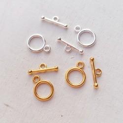 1 σετ, 20 χλστ, Ορείχαλκος, Κούμπωμα Αρσενικό-Θυλικό, Πολύγωνο, Χρυσό