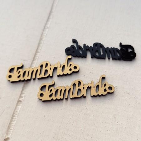 """1 τεμ. 42x12 χλστ, Πλέξιγκλας με Συνδέσμους και Κείμενο """"TeamBride"""", Περίγραμμα, Χρυσό"""