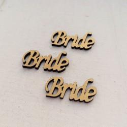 """1 τεμ. 30x13 χλστ, Πλέξιγκλας με Συνδέσμους και Κείμενο """"Bride"""", Περίγραμμα, Χρυσό"""
