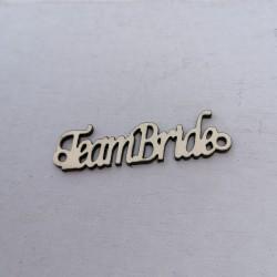 """1 τεμ. 42x12 χλστ, Ακρυλικό με Συνδέσμους και Κείμενο """"TeamBride"""", Περίγραμμα, Χρυσό"""