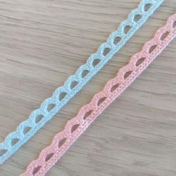 1 μέτρο, 8 χλστ, Βαμβακερή Δανδέλα, σε Ροζ και Γαλάζιο