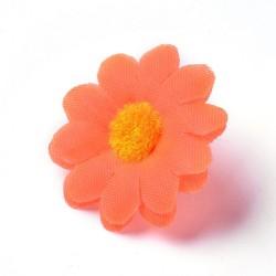 5 τεμ, 40 χλστ, Κεφαλή Τεχνητού Λουλουδιού, Μετάξωτο Πανί, για Διακόσμηση Πάρτι-Στεφάνι Γάμου, Πορτοκαλί Μαργαρίτα