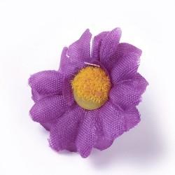5 τεμ, 40 χλστ, Κεφαλή Τεχνητού Λουλουδιού, Μετάξωτο Πανί, για Διακόσμηση Πάρτι-Στεφάνι Γάμου, Μωβ Μαργαρίτα