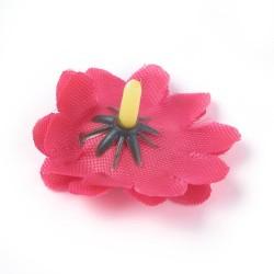 5 τεμ, 40 χλστ, Κεφαλή Τεχνητού Λουλουδιού, Μετάξωτο Πανί, για Διακόσμηση Πάρτι-Στεφάνι Γάμου, Κόκκινη Μαργαρίτα