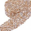 10 εκατ., 3 χλστ Πλάτος, Κρύσταλλα με κολλα Hotfix για Παπουτσια και Τσάντες, Χρυσό