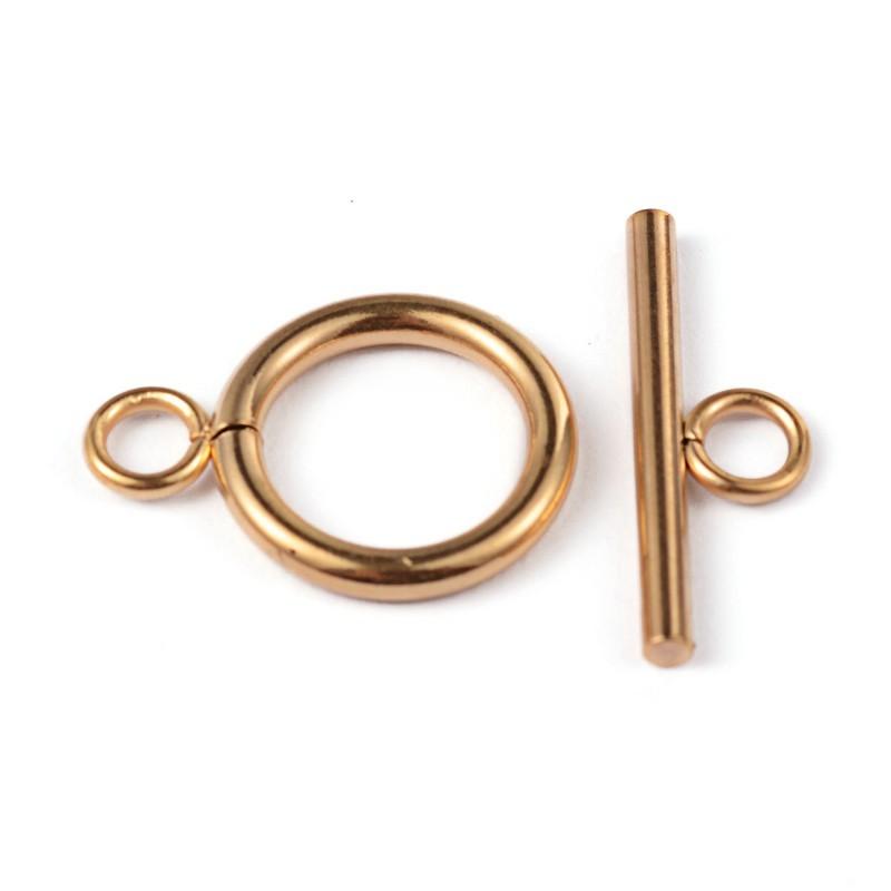 1 σετ. 19 χλστ, 304 Ανοξείδωτο Ατσάλι, Κούμπωμα Αρσενικό-Θυλικό, Χρυσό