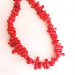 20 τεμ, 6~12 χλστ, Φυσικό Κοράλλι, Σχήμα Bamboo, Χάντρα, Κόκκινο