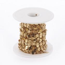 50 εκατ, 5 χλστ πάχος, 304 Ανοξείδωτο Ατσάλι, Αλυσίδα Φλατ Στρογγυλά, Χρυσό