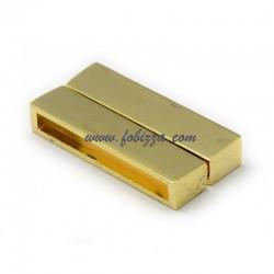 1 τεμ, 38x19 χλστ, Μαγνητικό Συνδετικό απο Κράμα Ψευδαργύρου, Ορθογώνιο, Χρυσό