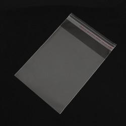 50 τεμ, 12x8 εκατ, Διαφανή Σακουλάκια Σελοφάν με Κόλλα, Διαφανές
