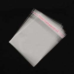 50 τεμ, 10x8 εκατ, Διαφανή Σακουλάκια Σελοφάν με Κόλλα, Διαφανές