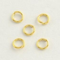20 τεμ, 6x0.8 χλστ, 304 Aνοξείδωτο Ατσάλι, Κρικάκια με Ανοιγμα, Χρυσό