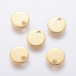 6 τεμ, 7 χλστ, 304 Ανοξείδωτο Ατσάλι, Φλατ Στρογγυλό, Κρεμαστο, Χρυσό